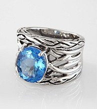 Effy® Blue Topaz and Sterling Silver Ring