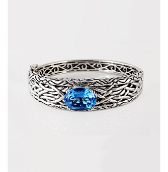 Effy® Sterling Silver Blue Topaz Bangle Bracelet