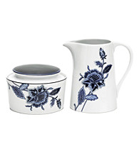Mikasa® Indigo Bloom Sugar Bowl and Creamer Set