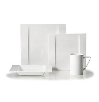 modern white place setting
