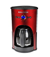 Kalorik Red Programmable 12-Cup Coffeemaker