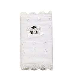 Elegant Baby® White Bible Cover with Lace Trim