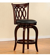 Home Interior 360° Swivel Pub Chair with Scroll Back - Cherry