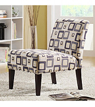 Home Interior Contemporary Lounge Chair - Cube Print