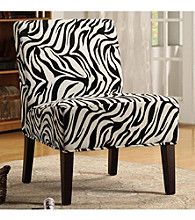 Home Interior Contemporary Lounge Chair - Zebra Print