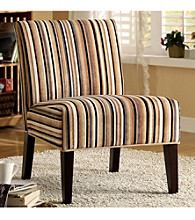 Home Interior Contemporary Lounge Chair - Striped Print