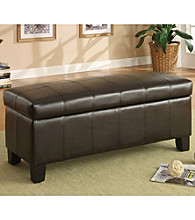 Home Interior Storage Bench Ottoman - Espresso