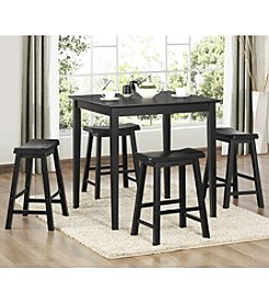 Home Interior 5-pc. Black Pub Dining Set