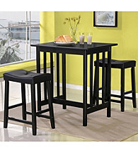 Home Interior 3-pc. Black Counter-Height Wood Dining Set