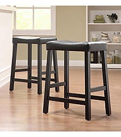 Home Interior 2-pc. Saddle-Back Stool Set - Black