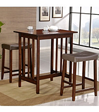 Home Interior 3-pc. Cherry Counter-Height Wood Dining Set