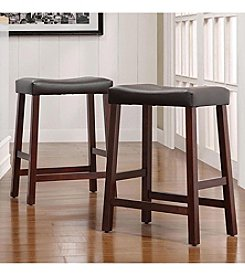 Home Interior 2-pc. Saddle-Back Stool Set - Cherry