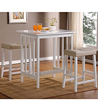 Home Interior 3-pc. White Counter-Height Wood Dining Set