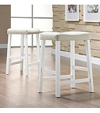 Home Interior 2-pc. Saddle-Back Stool Set - White
