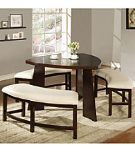 Home Interior 4-pc. Dark Cherry Solid Asian Wood Dining Set