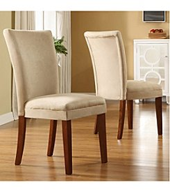 Home Interior Set of 2 Parson Dining Chairs - Peat