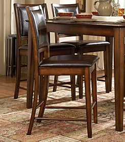Home Interior Set of 2 Bi-Cast Vinyl Dining Room Chairs - Oak