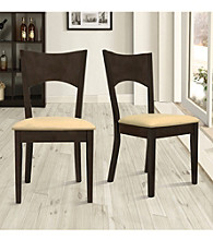 Home Interior Set of 2 Dining Chairs with Cushion - Merlot