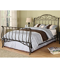 Home Interior Metal Sleigh Bed Frame - Brushed Goldtone