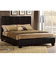 Home Interior Bi-Cast Faux Leather Bed Frame - Dark Brown