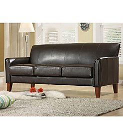 Home Interior Vinyl Sofa - Dark Brown