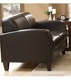 Home Interior Bi-Cast Vinyl Loveseat - Dark Brown
