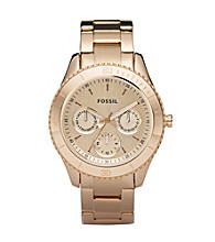 Fossil® Stella Rose Goldtone Multifunction Watch