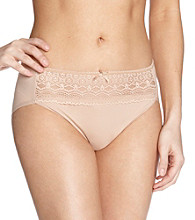 Naomi & Nicole® Lace Wonderful Edge Hi-Cut Briefs