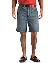 Harbor Bay® Men's Big & Tall Continuous Comfort Denim Shorts - Medium Blue
