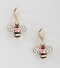 Betsey Johnson® Glitz Bumble Bee Earrings