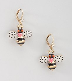 Betsey Johnson® Glitz Bumble Bee Earrings