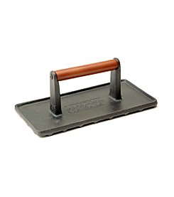 Charcoal Companion® Rectangular Cast-Iron Grill Press