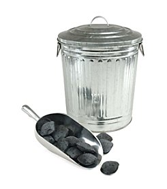 Steven Raichlen Best of Barbecue™ Galvanized Charcoal or Ash Can with Lid
