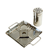 Steven Raichlen Best of Barbecue™ Stainless Beer Can Chicken Roaster with Drip Pan