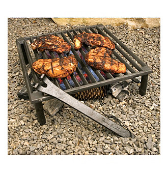 "Steven Raichlen Best of Barbecue™ 14""x14"" Cast Iron Tuscan Grill"