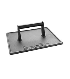 Steven Raichlen Best of Barbecue™ Cast Iron Double Wide Grill Press - 9x9""