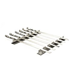 Steven Raichlen Best of Barbecue™ Stainless Steel Kabob Rack Set with 6 Skewers
