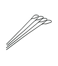 Charcoal Companion® Set of 4 Marshmallow Grilling Kabob Skewers