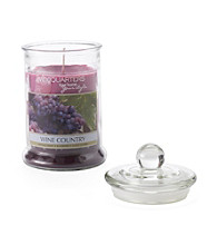 LivingQuarters Large Layered Candle - Wine Country