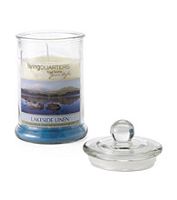 LivingQuarters Large Layered Jar Candle - Lakeside Linen