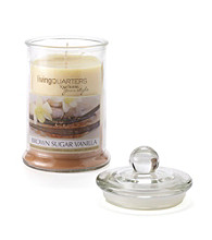 LivingQuarters Large Layered Jar Candle - Brown Sugar Vanilla