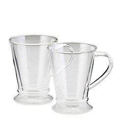 BonJour® Set of 2 Clear Insulated 10 oz. Coffee Mugs