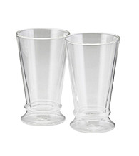 Bon Jour® Set of 2 Clear Insulated 12 oz. Latte Cups