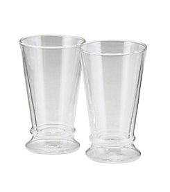 BonJour® Set of 2 Clear Insulated 12 oz. Latte Cups