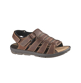 "Hush Puppies® Men's ""Foredune"" Slingback Open-Toe Sandal - Brown"
