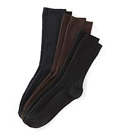 Relativity® Basic Cable Knit Socks