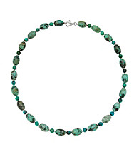 .925 Sterling Silver & Turquoise Necklace