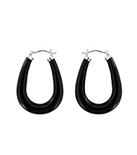 .925 Sterling Silver Black Onyx Earrings