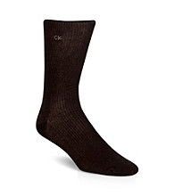 Calvin Klein Men's Brown 3-Pack Dress Socks