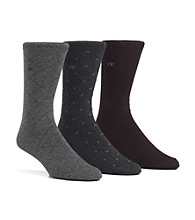 Calvin Klein Men's Windowpane Socks 3-Pack - Assorted